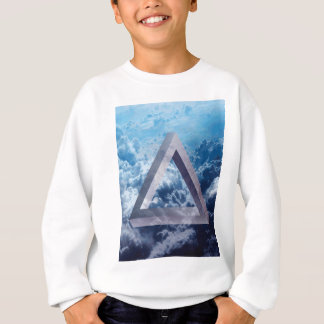Wellcoda Up In The Clouds Shape Triangle Sweatshirt