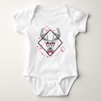 Wellcoda Urban Reindeer Swag Hipster Stag Baby Bodysuit