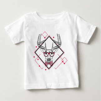 Wellcoda Urban Reindeer Swag Hipster Stag Baby T-Shirt