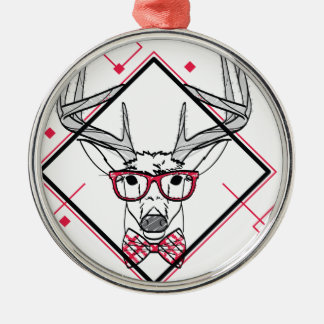 Wellcoda Urban Reindeer Swag Hipster Stag Christmas Ornament