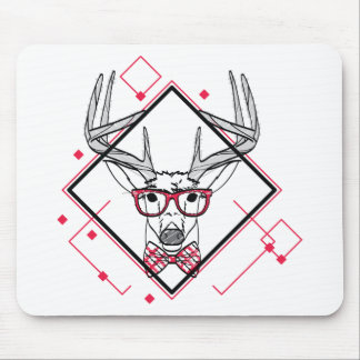 Wellcoda Urban Reindeer Swag Hipster Stag Mouse Mat