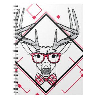 Wellcoda Urban Reindeer Swag Hipster Stag Notebooks