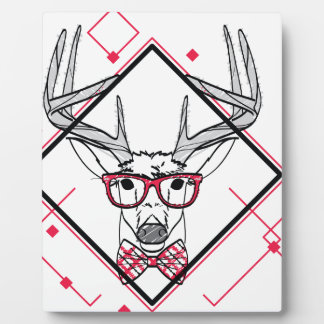 Wellcoda Urban Reindeer Swag Hipster Stag Plaque