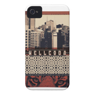 Wellcoda Urban Tiger City Life Wild Cat iPhone 4 Case-Mate Cases