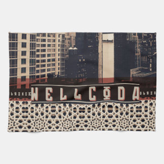 Wellcoda Urban Tiger City Life Wild Cat Tea Towel
