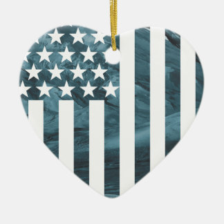 Wellcoda USA Eagle America Freedom Flag Ceramic Heart Decoration