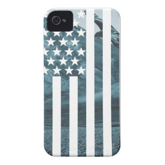 Wellcoda USA Eagle America Freedom Flag iPhone 4 Case-Mate Cases