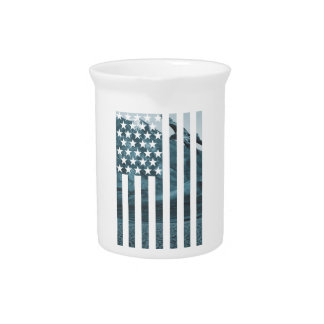 Wellcoda USA Eagle America Freedom Flag Pitcher