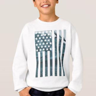 Wellcoda USA Eagle America Freedom Flag Sweatshirt