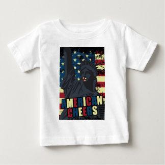 Wellcoda USA Liberty Cheer Smiley face Baby T-Shirt