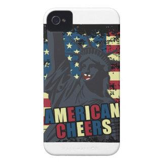 Wellcoda USA Liberty Cheer Smiley face Case-Mate iPhone 4 Case