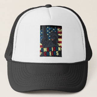 Wellcoda USA Liberty Cheer Smiley face Trucker Hat