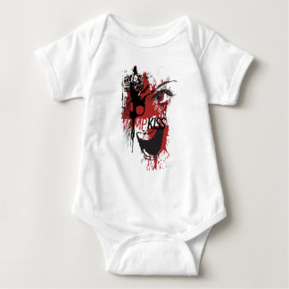 Wellcoda Vampire Kiss Blood Pistol Gun Baby Bodysuit