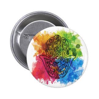 Wellcoda Vibrant Indian Symbol Asian Life 6 Cm Round Badge