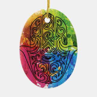Wellcoda Vibrant Indian Symbol Asian Life Christmas Ornament