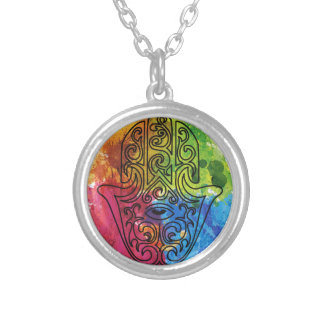 Wellcoda Vibrant Indian Symbol Asian Life Round Pendant Necklace