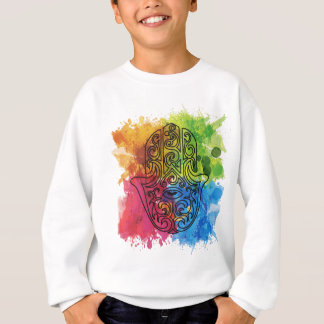 Wellcoda Vibrant Indian Symbol Asian Life Sweatshirt