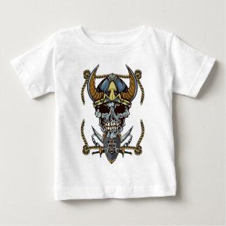 Wellcoda Viking Pirate Skull Skalp Head Baby T-Shirt