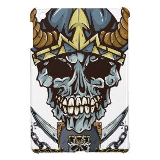 Wellcoda Viking Pirate Skull Skalp Head Cover For The iPad Mini
