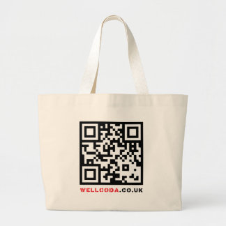 Wellcoda Vintage Apparel Code Neo Barcode Large Tote Bag