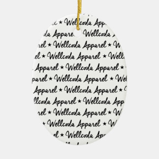 Wellcoda Vintage Apparel Font Dream Land Christmas Ornament