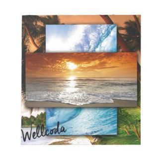 Wellcoda Vintage Beach Life Holiday Love Notepad