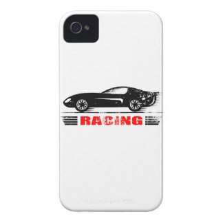 Wellcoda Vintage Racing Car Motor Speed Case-Mate iPhone 4 Case