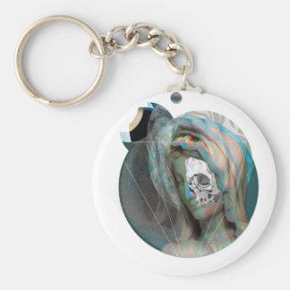 Wellcoda Virgin Mary Sculpture Holy Head Basic Round Button Key Ring