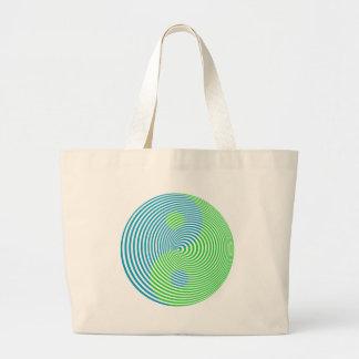 Wellcoda Visual Confusion Cool Yin Yang Large Tote Bag