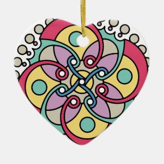 Wellcoda Wicked Flower Style Crazy Look Ceramic Heart Decoration