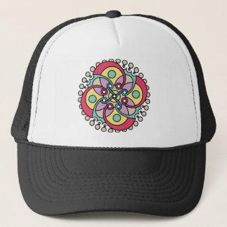 Wellcoda Wicked Flower Style Crazy Look Trucker Hat