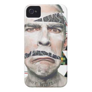 Wellcoda Wifi Wireless Human Sad Face Case-Mate iPhone 4 Case
