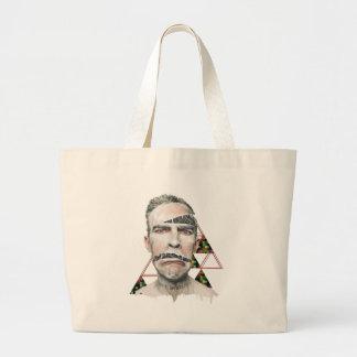Wellcoda Wifi Wireless Human Sad Face Large Tote Bag