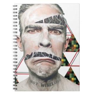 Wellcoda Wifi Wireless Human Sad Face Spiral Note Book