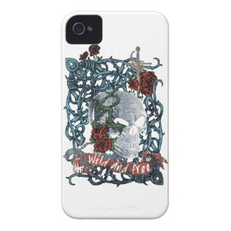 Wellcoda Wild and Free Rose Scary Rose iPhone 4 Case-Mate Cases
