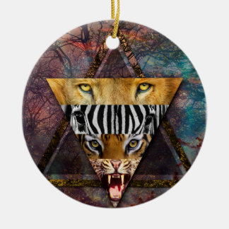 Wellcoda Wild Animal Adventure Wildlife Fun Christmas Ornament