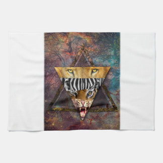Wellcoda Wild Animal Adventure Wildlife Fun Tea Towel