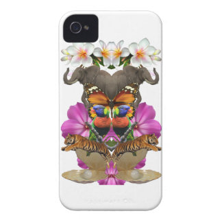 Wellcoda Wild Animal Paradise Pearl Clam iPhone 4 Covers