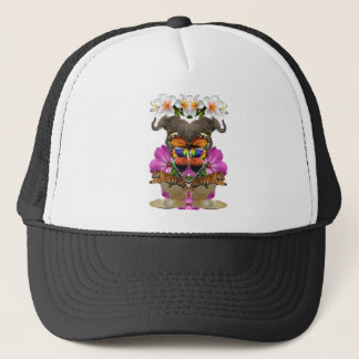 Wellcoda Wild Animal Paradise Pearl Clam Trucker Hat