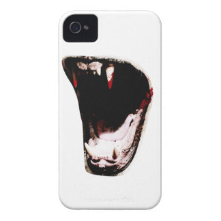 Wellcoda Wild Animal Teeth Predator Mouth iPhone 4 Case-Mate Cases