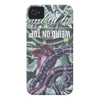 Wellcoda Wild At Heart Snakes Cobra Venom iPhone 4 Covers