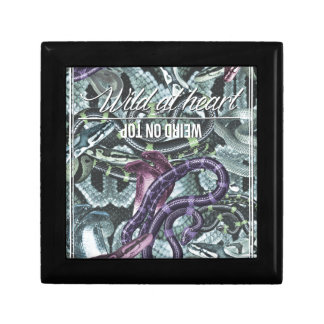 Wellcoda Wild At Heart Weird On Top Snake Small Square Gift Box