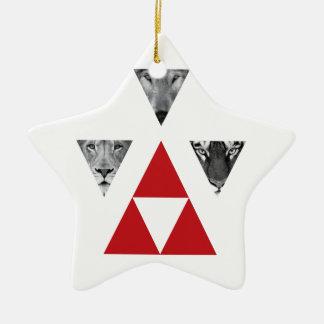 Wellcoda Wild Dangerous Animals Wildlife Ceramic Star Decoration