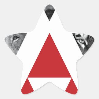 Wellcoda Wild Dangerous Animals Wildlife Star Sticker