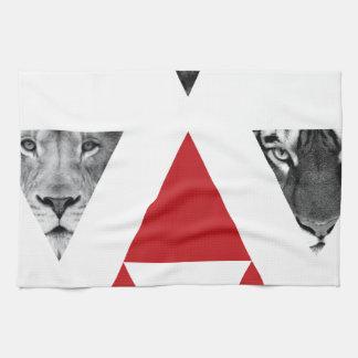 Wellcoda Wild Dangerous Animals Wildlife Tea Towel