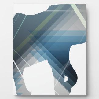 Wellcoda Wild Elephant Print Nature Love Plaque