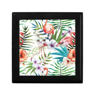 Wellcoda Wild Flamingo Life Paradise Bird Small Square Gift Box