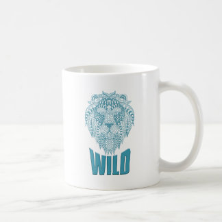 Wellcoda Wild Lion Ornament Animal Beast Coffee Mug