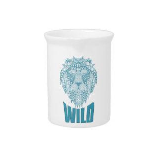 Wellcoda Wild Lion Ornament Animal Beast Pitcher