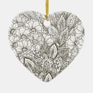 Wellcoda Wild Nature Plants Flower Bloom Ceramic Heart Decoration